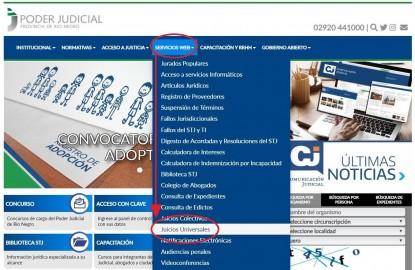 poder judicial, pagina web
