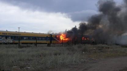 incendio, tren patagonico