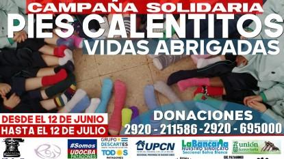 PATAGONES, cgt, campaña solidaria, MEDIAS, PIES CALENTITOS
