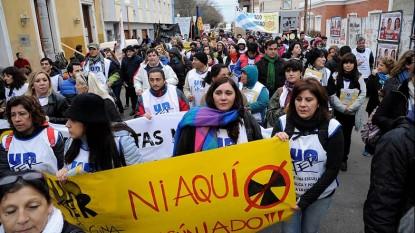 marcha unter planta nuclear protestas