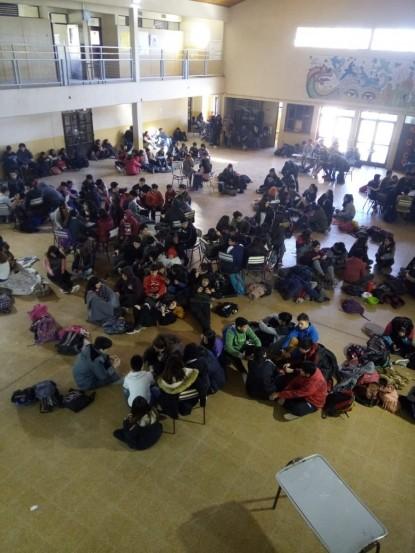 esfa, sentada, alumnos