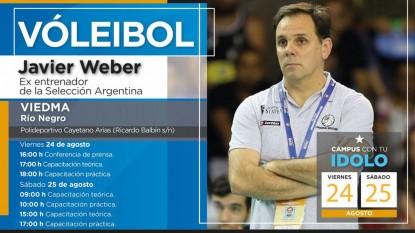 Javier Weber, campus