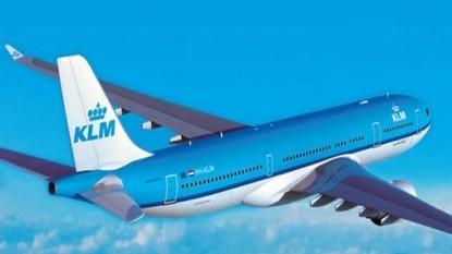 avión, klm