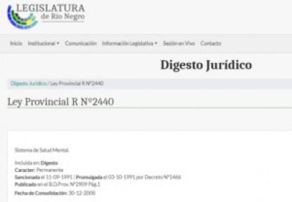 Ley Provincial R Nº2440