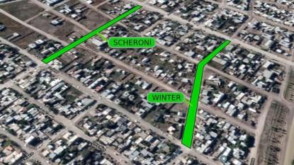 pavimento, asfalto, calle schieroni, calle winter