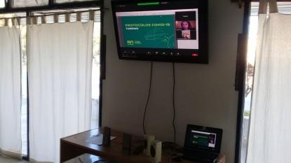 sierra grande, videoconferencia