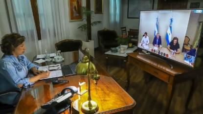 arabela carreras, ALBERTO FERNANDEZ, videoconferencia
