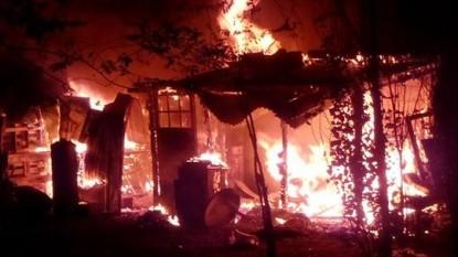 Las Grutas, incendio, vivienda