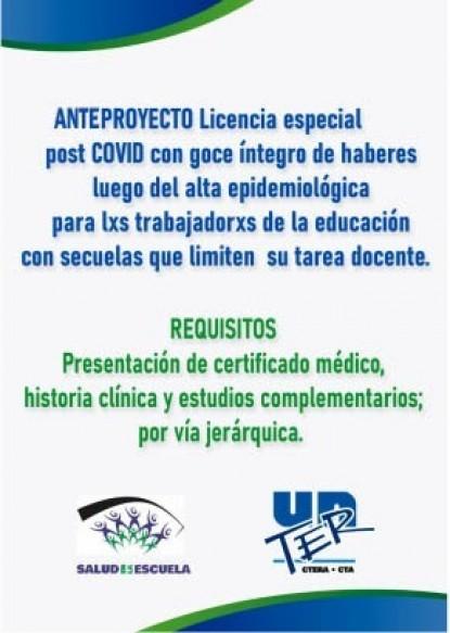 unter licencia especial post covid