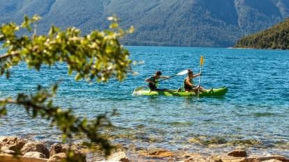 kayak, lago