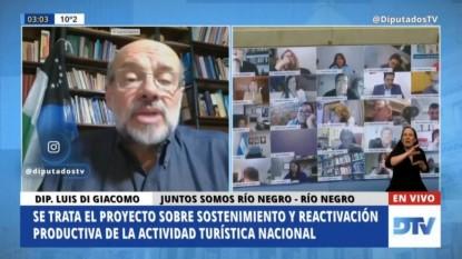 Luis di giácomo, sesion, CAMARA DE DIPUTADOS