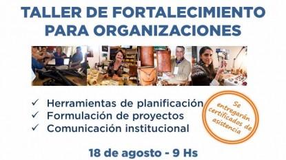 taller fortalecimiento organizaciones