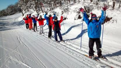 escuela, esqui