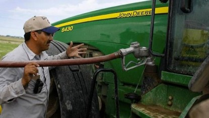 campo, combustible, gas oil, tractor