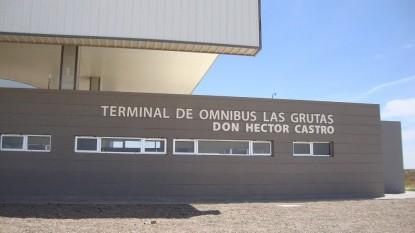 Las Grutas, terminal de omnibus