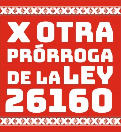 prorroga ley 26160
