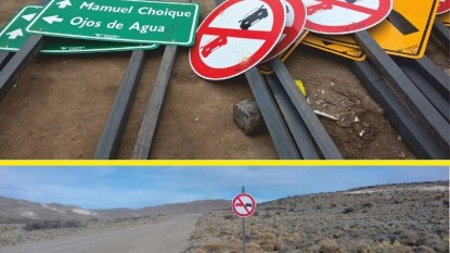 carteles ruta 6 vialidad
