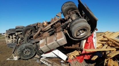 camion, vuelco, ACCIDENTE, ruta 3, villarino