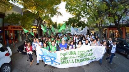 Unter, ATE, marcha protesta gremios