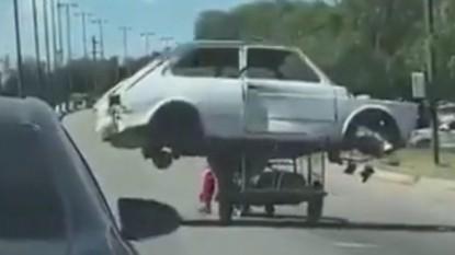 moto, carrito, auto