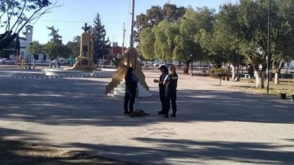 homicidio, san antonio oeste, policia, plaza centenario