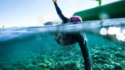 natación, vuelta a la huemul