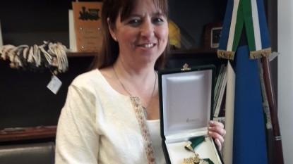 magdalena odarda, medalla verde