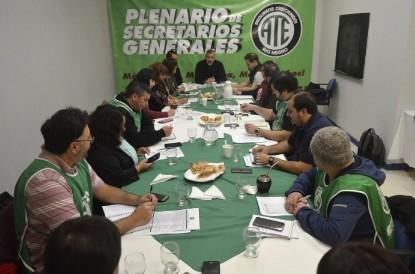 plenario, ATE, secretarios generales