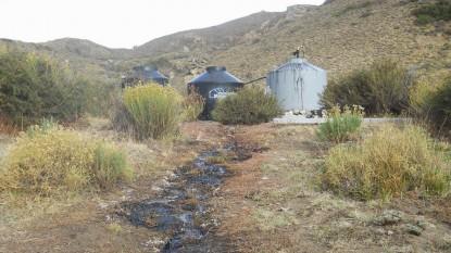 contaminacion, petroleo, nirihuau, arroyo las minas
