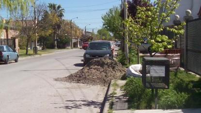 escombro, tierra, calle