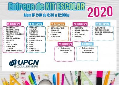upcn, kits escolares