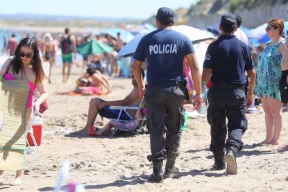 playa, policias