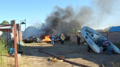 san antonio oeste, incendio, explosion