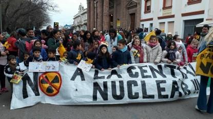 viedma, marcha, planta nuclear