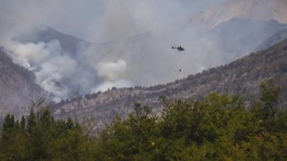 el bolson, incendios, helicoptero