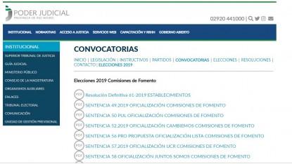 comisiones de fomento, elecciones