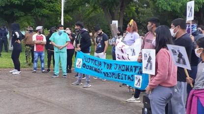 jhonatan villanueva, fallecido, san javier, marcha, manifestacion
