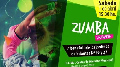 Zumba solidaria afiche