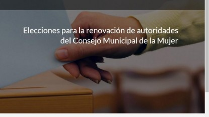 elecciones, CONSEJO DE LA MUJER, viedma