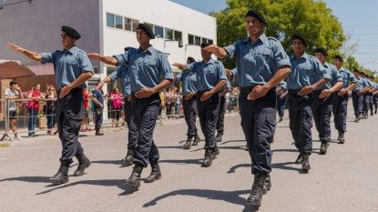 desfile, policias