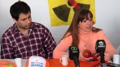 magdalena odarda, CONFERENCIA DE PRENSA
