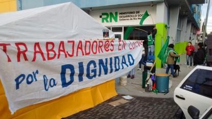 viedma, ATE, PROTESTA, ministerio de desarrollo social, acampe