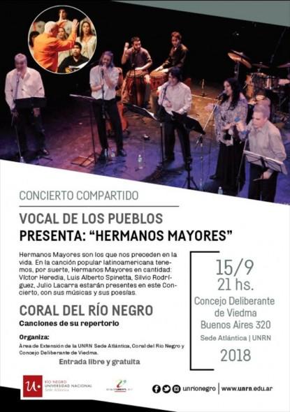 universidad nacional de río negro, concierto, vocal