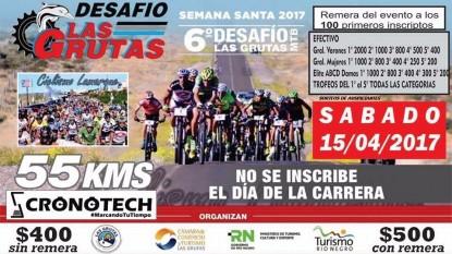 afiche 6° desafío mountain bike las grutas